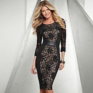 VENUS Dress With Lace/ Faux Leather Detail New XL